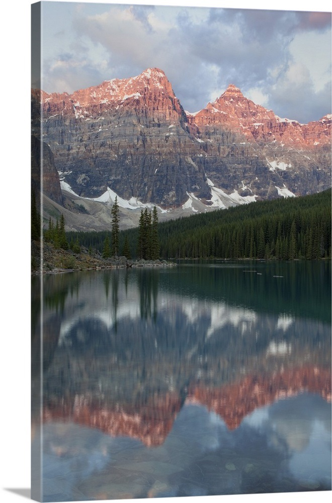 Early Morning Reflections In Moraine Lake Banff National Park Alberta Canada
