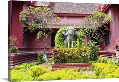 Elephant statue outside The National Museum of Cambodia, Phnom Penh, Cambodia, Indochina