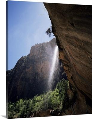 Emerald Pool waterfall, Zion National Park, Utah, United States of America