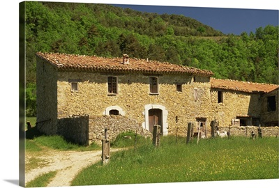 Exterior of a farmhouse, Alpes de Haute Provence, Provence, France