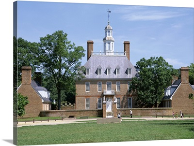Exterior of Governor's Palace, colonial architecture, Williamsburg, Virginia