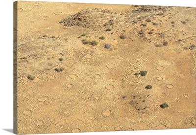 Fairie circles, aerial view of Damaraland, Kaokoland wilderness in NW region, Namibia