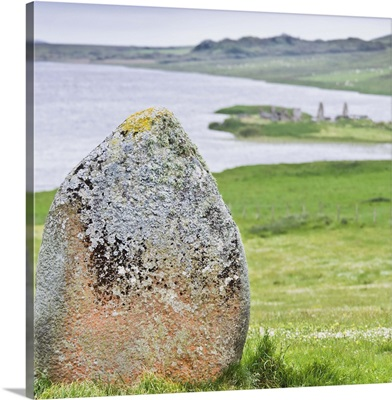 Finlaggan rock, Islay Island, Inner Hebrides, Scotland, UK