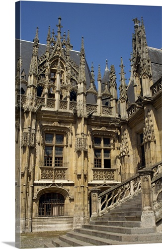 Flamboyant Gothic Architecture Of The 14th Century Palais De Justice Rouen France