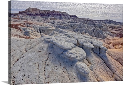 Formations Along The Blue Forest Trail, Petrified Forest National Park, Arizona