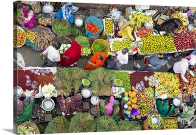 Fruit And Vegetable Market In The Old City, Udaipur, Rajasthan, India