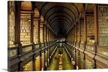 Gallery of the Old Library, Trinity College, Dublin, County Dublin, Eire (Ireland)