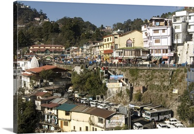 Gandhi Chowk, Mussoorie, Uttarakhand, Garwhal Himalaya, India