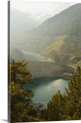 Gangapurna Lake, Marsyangdi River Valley, Gandaki, Nepal, Himalayas