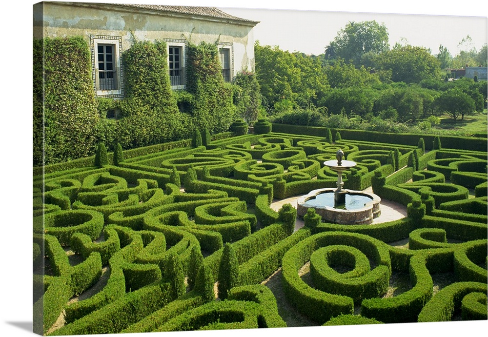 Awesome Garden Maze, Portugal, Europe