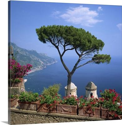 Garden of Villa Rufolo, Ravello, Amalfi Coast, Campania, Italy