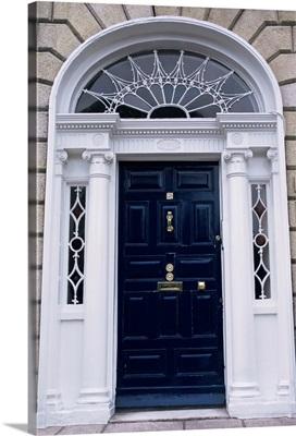 Georgian doorway, Dublin, Eire (Republic of Ireland), Europe