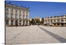 Gilded wrought iron gates by Jean Lamour, Place Stanislas, Nancy, Lorraine, France