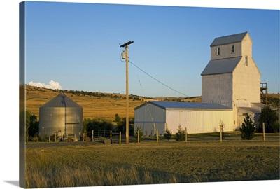 Grain elevator near Bozeman, Montana