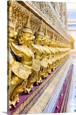 Guardian statues at Temple of the Emerald Buddha, The Grand Palace, Bangkok, Thailand