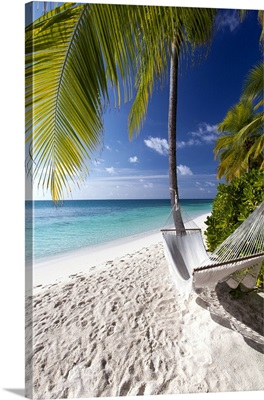 Hammock On Tropical Beach, Maldives, Indian Ocean