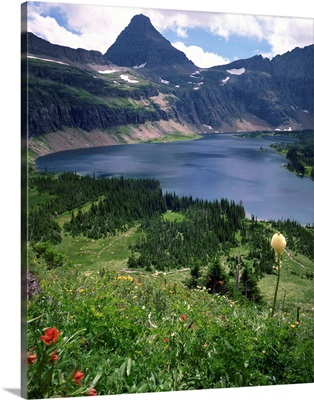 Hidden Lake with Mount Reynolds, Glacier National Park, High Rocky Mountains, Montana
