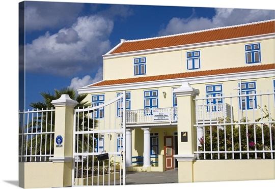 Historic Building On Molenplein Willemstad Curacao Netherlands Antilles Caribbean