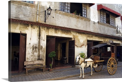 Horse and cart in Spanish Old Town, Vigan, Ilocos Province, Luzon, Philippines