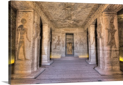 Hypostyle Hall, Temple Of Hathor And Nefertari, Abu Simbel, Nubia, Egypt