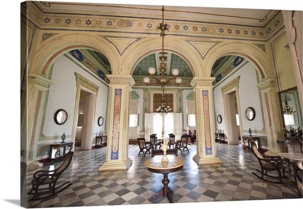 Museo Romantico.Interior Of The Palacio Brunet Houses Museo Romantico Trinidad