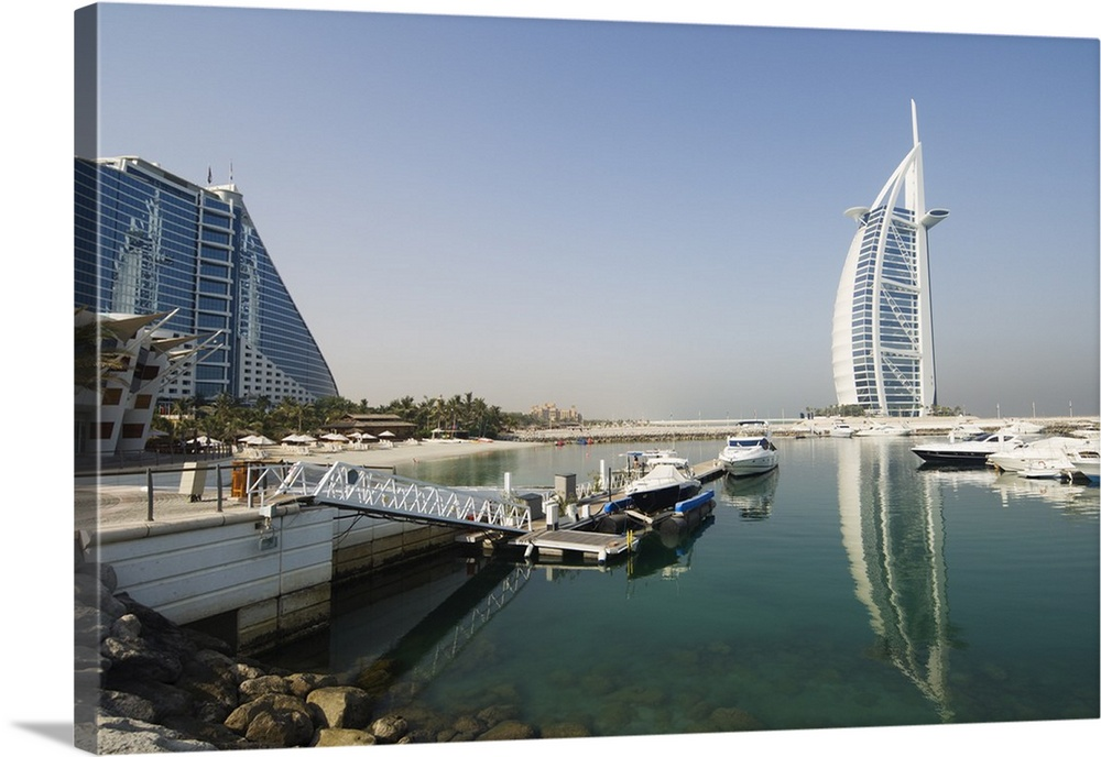 Jumeirah Beach Hotel And Burj Al Arab Hotel Dubai United Arab Emirates Wall Art Canvas Prints Framed Prints Wall Peels Great Big Canvas