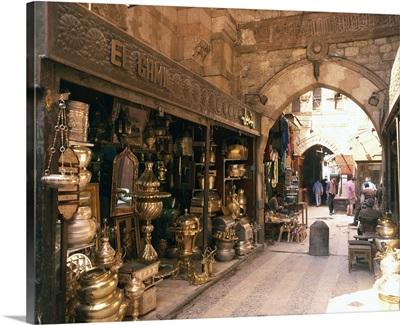 Khan-el-Khalili Bazaar, Cario, Egypt, Africa