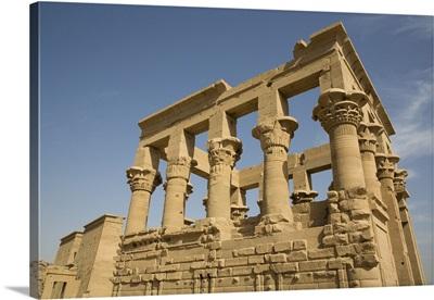 Kiosk Of Trajan, Temple Of Isis, Philae Island, Aswan, Nubia, Egypt, North Africa