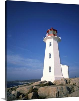 Lighthouse at Peggys Cove near Halifax in Nova Scotia, Canada
