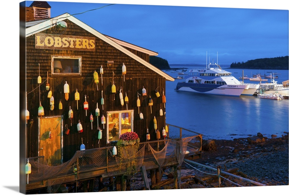 Lobster Restaurant Bar Harbor Mount Desert Island Maine New England