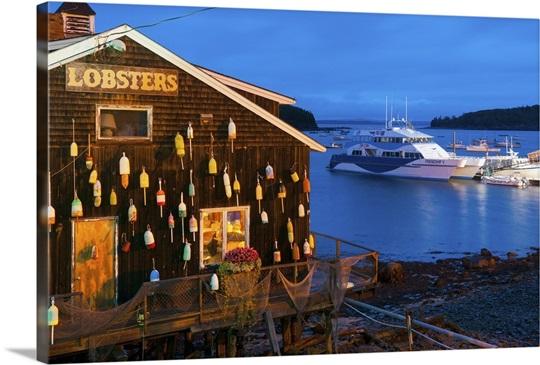 Lobster Restaurant Bar Harbor Mount Desert Island Maine New