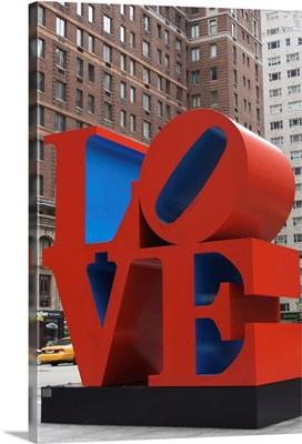 Love Sculpture by Robert Indiana, 6th Avenue, Manhattan, NYC, New York, USA