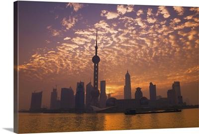 Lujiazui Finance and Trade zone, and Huangpu River, Shanghai, China