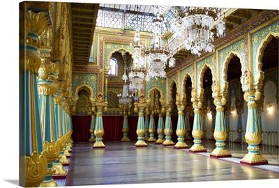 Maharaja's Palace, Mysore, Karnataka, India, Asia