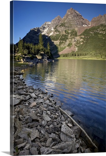 Maroon Bells and Crater Lake, Gunnison National Forest, Colorado