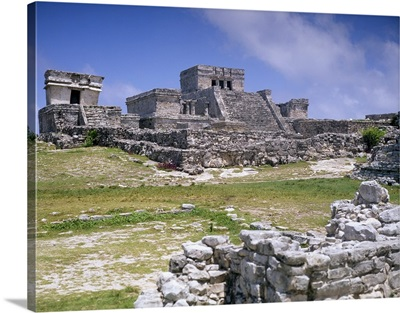 Mayan archaeological site, Tulum, Yucatan, Mexico