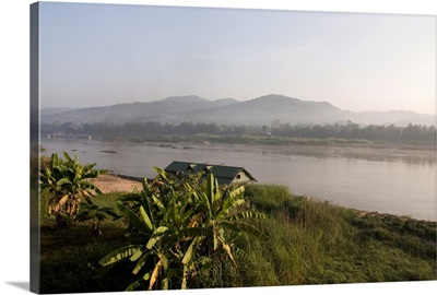 Mekong River, looking across to Laos on other bank, Golden Triangle, Thailand