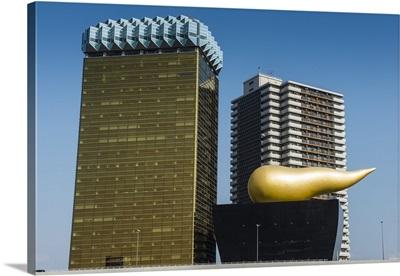 Modern architecture in the Asakusa, Tokyo, Japan