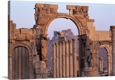Monumental arch, Palmyra, UNESCO World Heritage Site, Syria, Middle East