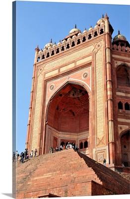 Monumental Gate, Jama Masjid Mosque, Fatehpur Sikri, Uttar Pradesh, India