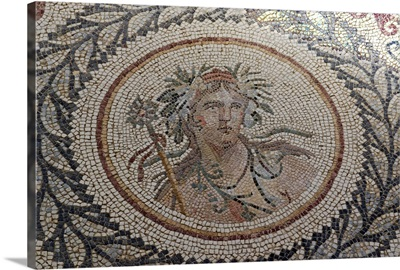 Mosaic, at the Museum of Chemtou, Tunisia, Africa