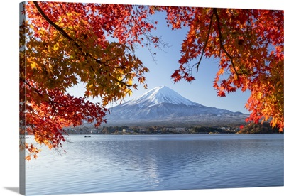 Mount Fuji, And Lake Kawaguchi, Yamanashi Prefecture, Honshu, Japan, Asia