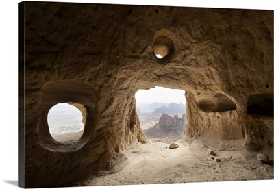 Natural Windows Inside Cave, Entrance Of Rock-Hewn Church, Gheralta Mountains, Ethiopia