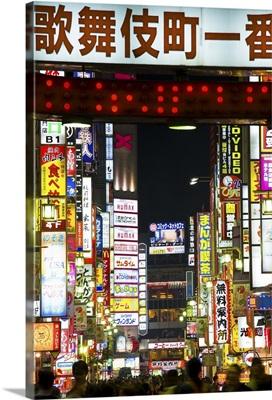 Neon signs, Kabukicho, Shinjuku, Tokyo, Japan, Asia