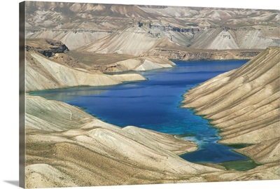 One of the crater lakes at Band-E-Amir, Afghanistan, Asia