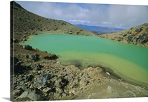 One of the Emerald Lakes, North Island, New Zealand