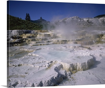 Opal Terrace, Mammoth Hot Springs, Yellowstone National Park, Wyoming