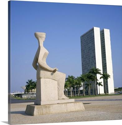 Palacio do Congresso from the Palace of Justice, Brasilia, Brazil, South America