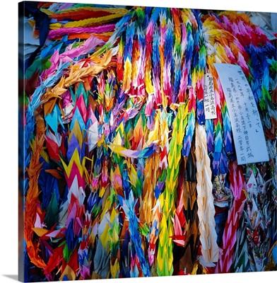 Paper cranes, Children's Peace Memorial, Hiroshima, Japan