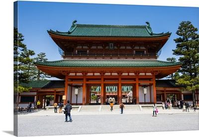 Park in the Heian Jingu shrine, Kyoto, Japan